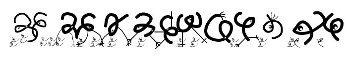 AlwaysBigEatsSmallers Font LOWERCASE