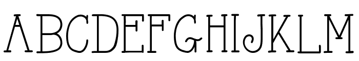 AlwaysHereToo Font UPPERCASE