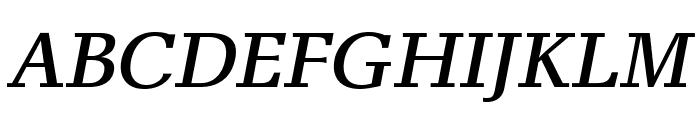 AlyssaOpti-Italic Font UPPERCASE