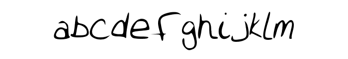 Alywriting Font LOWERCASE