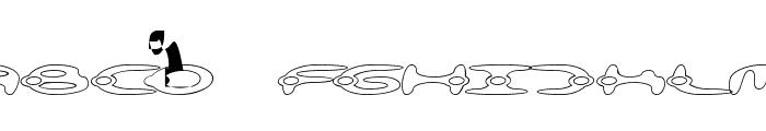 alienation Outline Font UPPERCASE