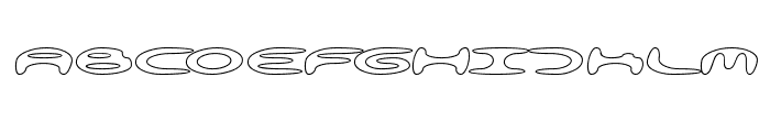 alienation Outline Font LOWERCASE