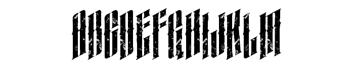 almanacitalicgrunge Font UPPERCASE