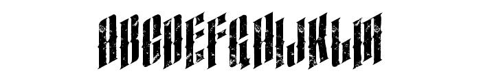 almanacitalicgrunge Font LOWERCASE