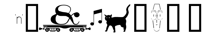 alphabettrain Font OTHER CHARS