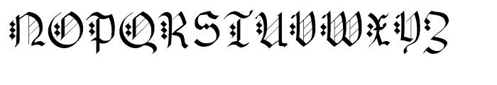 Albert Betenbuch Regular Font UPPERCASE