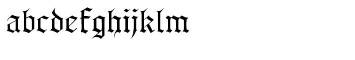 Albert Betenbuch Regular Font LOWERCASE