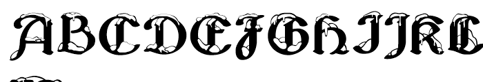 Albions White Christmas Font UPPERCASE