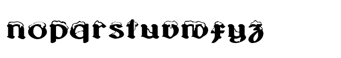 Albions White Christmas Font LOWERCASE