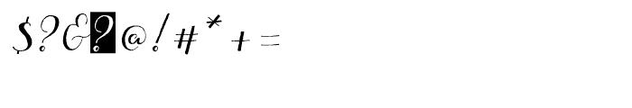 Aleka Regular Font OTHER CHARS