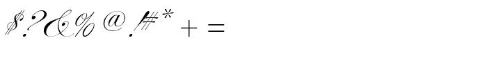 Alexandra Script Normal Font OTHER CHARS