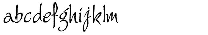 Alie Regular Font LOWERCASE