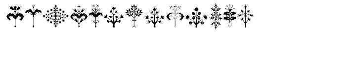 Alien Trees Regular Font UPPERCASE