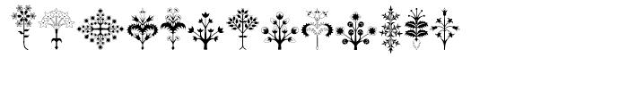Alien Trees Regular Font LOWERCASE