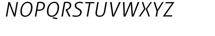 Aller Light Italic Font UPPERCASE
