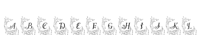 Allerlei Zierat Capitals Font UPPERCASE