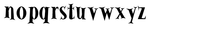 Alleycat Bold Font LOWERCASE