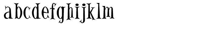 Alleycat Regular Font LOWERCASE