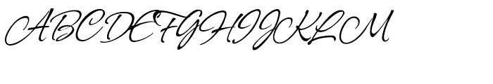 Allison Regular Font UPPERCASE