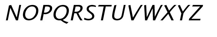 Alphabet Italic Font UPPERCASE