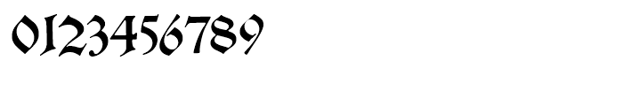 Alte Schwabacher Round Standard Font OTHER CHARS