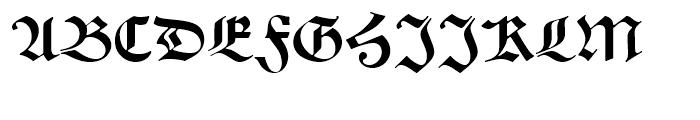 Alte Schwabacher Round Standard Font UPPERCASE