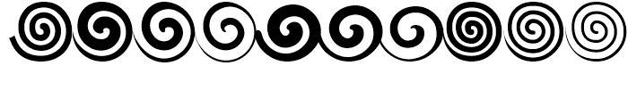 Altemus Spirals Regular Font OTHER CHARS
