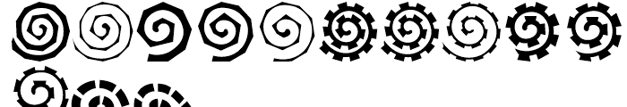 Altemus Spirals Regular Font LOWERCASE