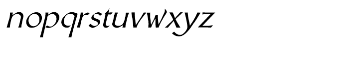 Altra Two Italic Font LOWERCASE