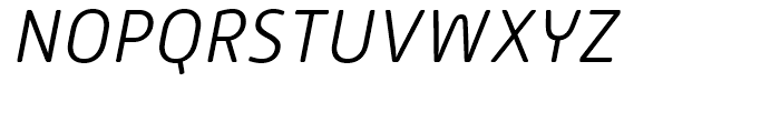 Alwyn New Rounded Light Italic Font UPPERCASE