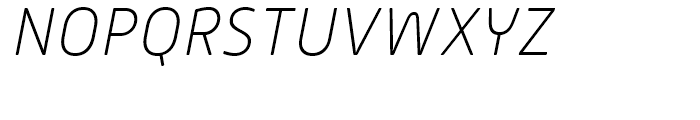 Alwyn New Rounded Thin Italic Font UPPERCASE