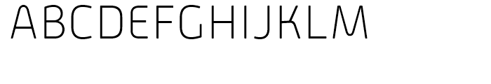Alwyn New Rounded Thin Font UPPERCASE