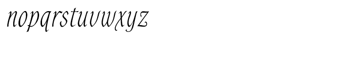 Alys Light Font LOWERCASE