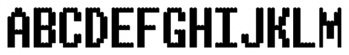 ALPHABRIX REGULAR Font UPPERCASE