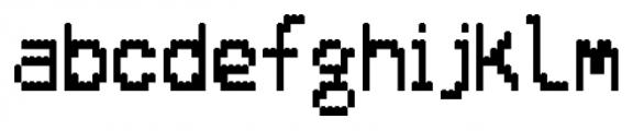 ALPHABRIX REGULAR Font LOWERCASE