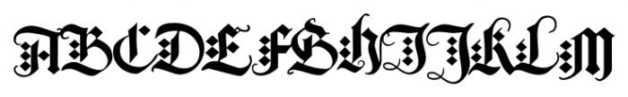 Albrecht Duerer Fraktur Pro Regular Font UPPERCASE