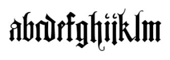 Albrecht Duerer Fraktur Pro Regular Font LOWERCASE