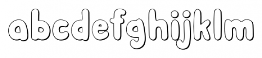 Albus Shadow Font LOWERCASE