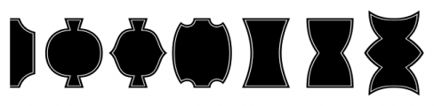 Alianza Labels Negative Font UPPERCASE