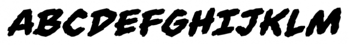 Always Angry BB Bold Italic Font UPPERCASE