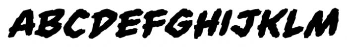 Always Angry BB Bold Italic Font LOWERCASE
