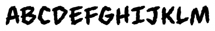 Always Angry BB Regular Font UPPERCASE