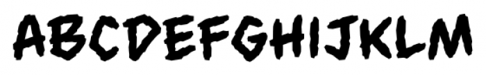 Always Angry BB Regular Font LOWERCASE