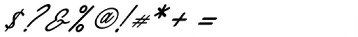 Alaysa Regular Font OTHER CHARS