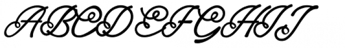 Alaysa Regular Font UPPERCASE