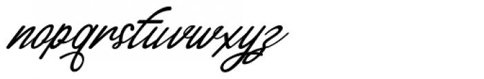 Alaysa Regular Font LOWERCASE