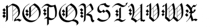 AlbertBetenbuch Font UPPERCASE