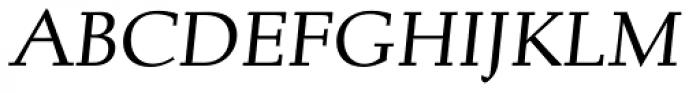 Albertan Pro Book Italic Font UPPERCASE