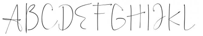 Alberth Regular Font UPPERCASE