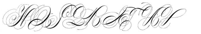 Albion Signature Font UPPERCASE